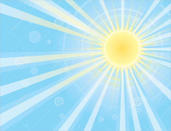 abstract sun and sky vector