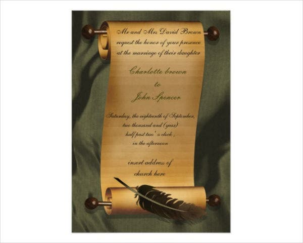 Royal Scroll Wedding Invitations