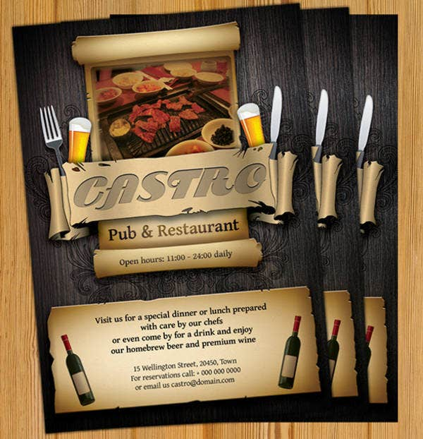 Restaurant Food Magazine Template