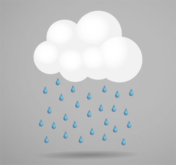 Cloud Rain Vector