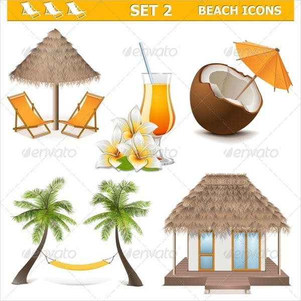 vector-beach-icons