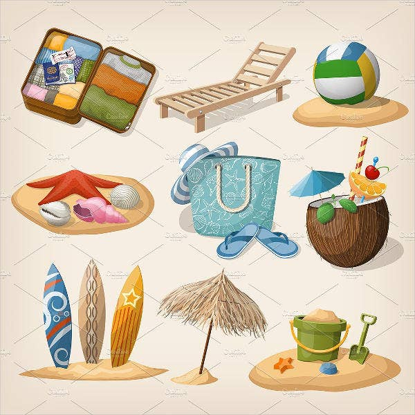 beach-vacation-icons
