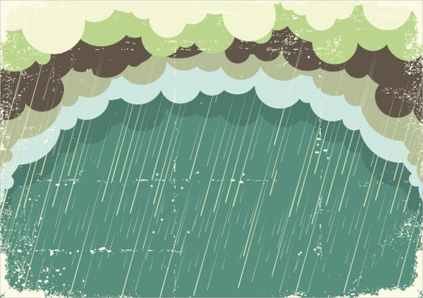 rain with grunge background vector