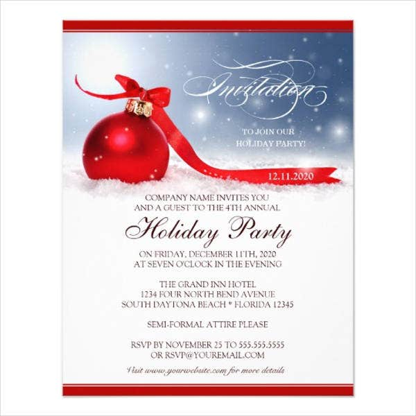 company holiday dinner invitation1