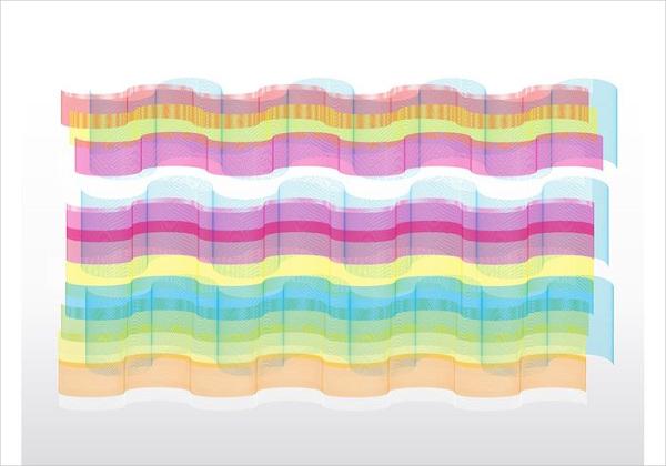 Rainbow Line Vector