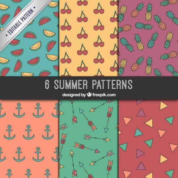 Vector Summer Patterns