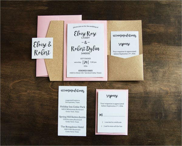 burlap pocket wedding invitations