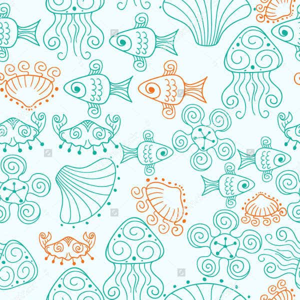 Seamless Beach Patterns