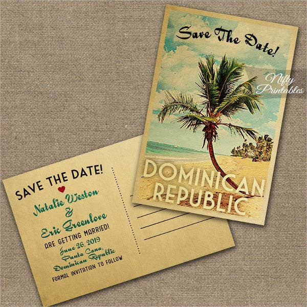 retro beach wedding invitations2