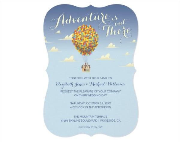 retro disney wedding invitations2