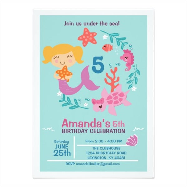 Printable Birthday Invitation Card