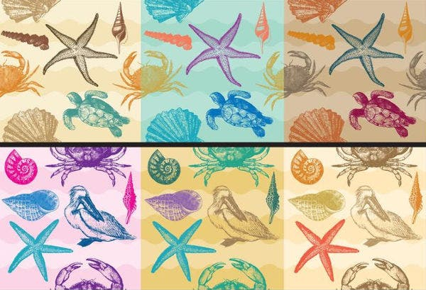 Vector Beach Patterns