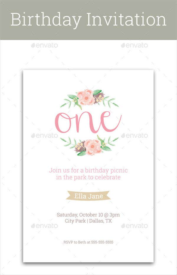 Birthday invitation format templates free premium for First birthday board template