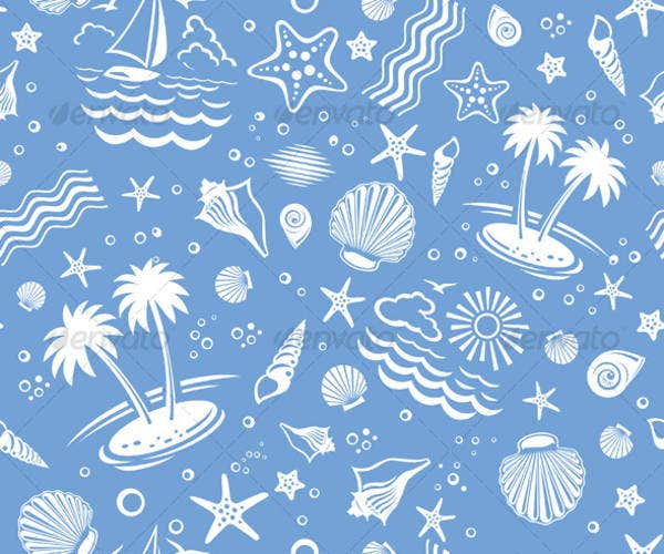 Seamless Beach Vector Patterns
