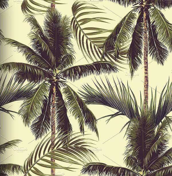 beach palm tree patterns