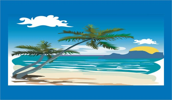 beach vectors 10 free psd vector ai eps format download free