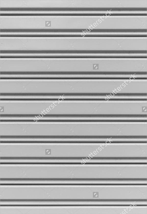 Corrugated Metal Sheet Wall Texture