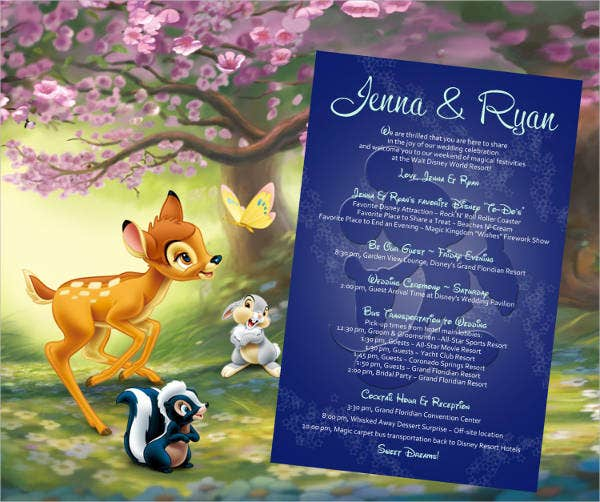Disney Destination Wedding Invitations