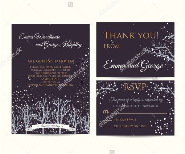 frozen destination wedding invitations
