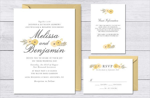 rustic floral wedding invitations2