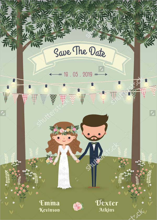 rustic garden wedding invitations1