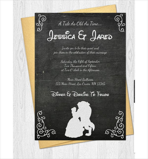 Disney Princess Wedding Invitations