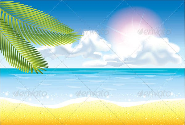 Beach Summer Vector