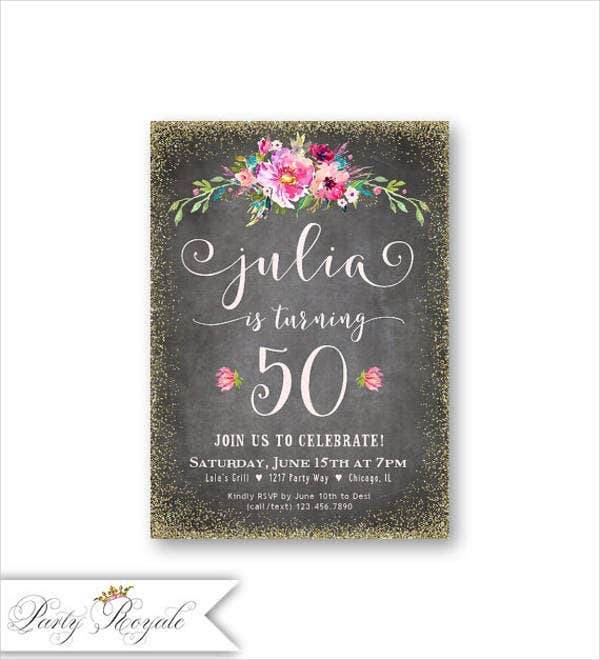50th-birthday-lunch-invitation