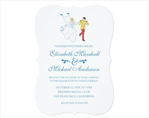 45 Wedding Invitations – Cinderella Wedding Invitation