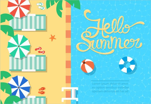 Free Summer Beach Vector