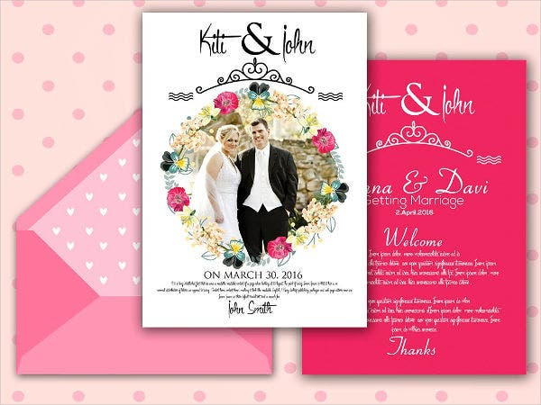 Engagement Photo Wedding Invitations