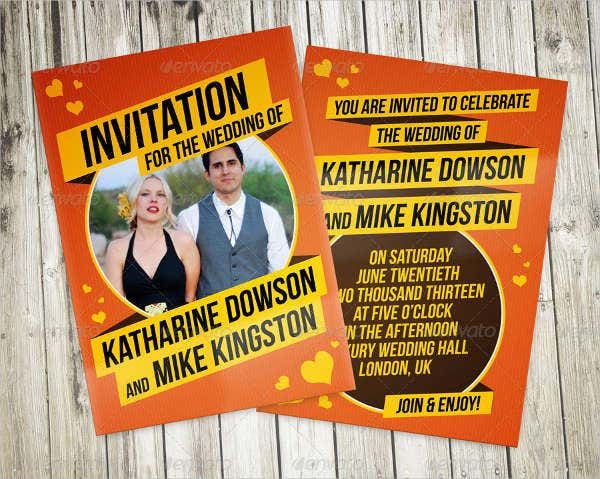 retro photo wedding invitations2