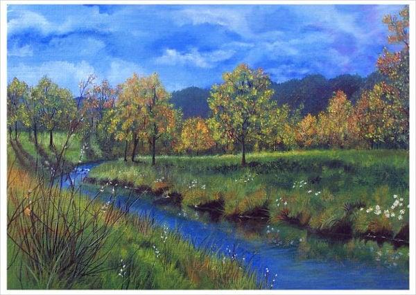 9 landscape paintings free premium templates