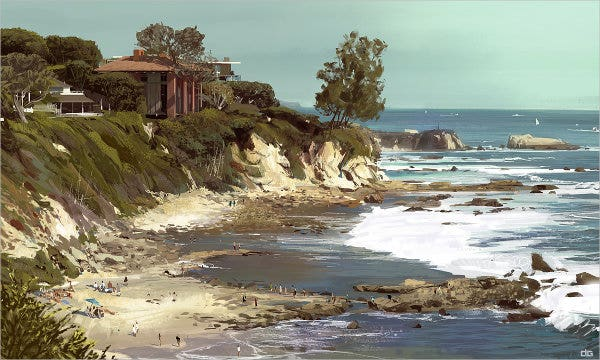 digital landscape painting