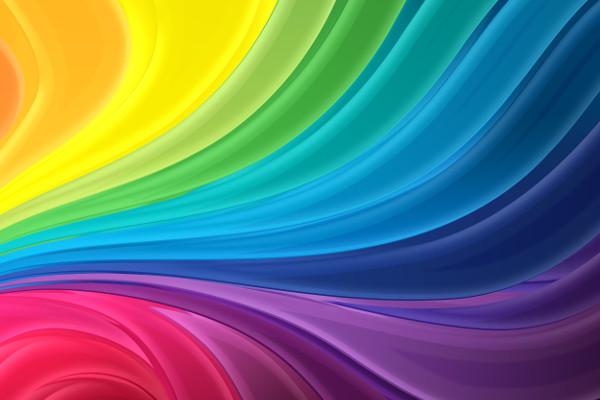 vector rainbow texture