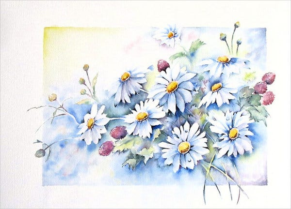watercolor-flower-sketch