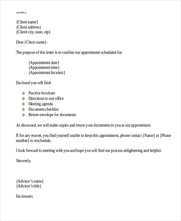 interview appointment confirmation letter template1