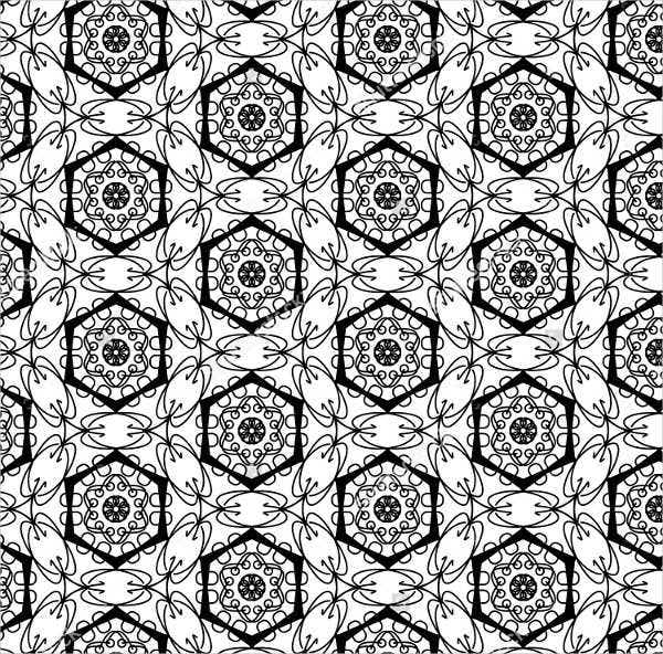 black and white gothic pattern