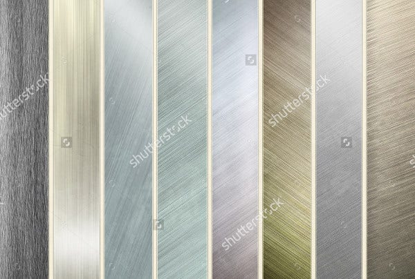 collection of aluminum textures