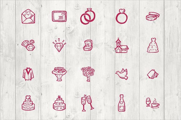 Hand Drawn Wedding Icons