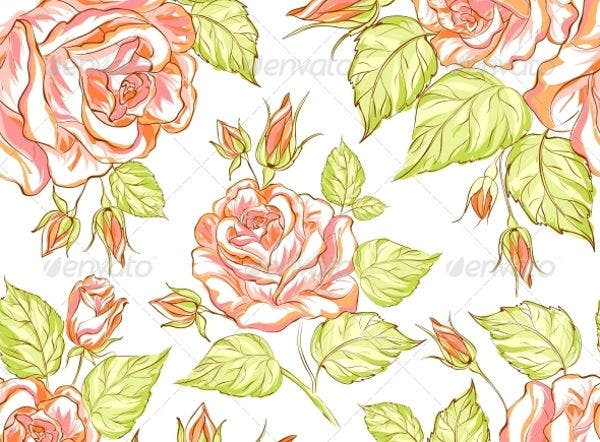 seamless texture of roses