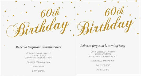 free 60th birthday party invitation
