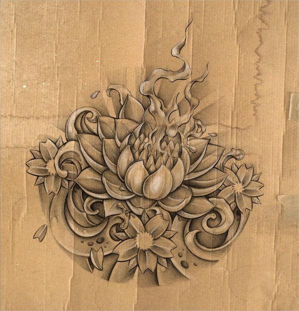 lotus-flower-sketch