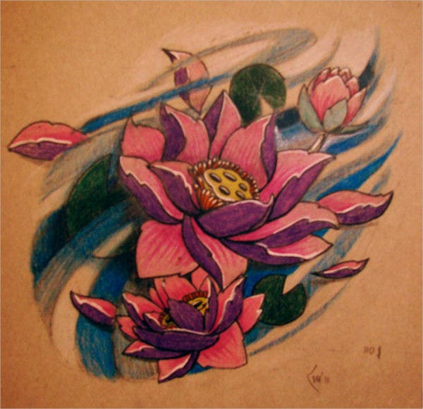 flower tattoo sketch