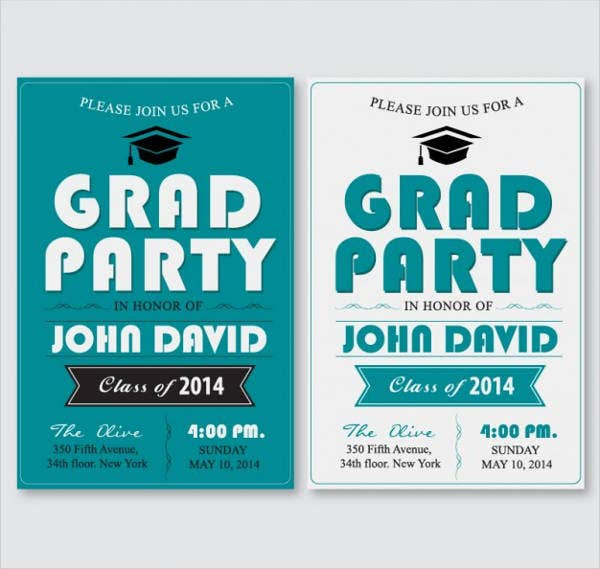 free printable graduation party invitation1