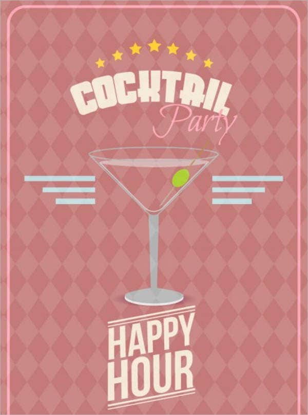 free cocktail party invitation card