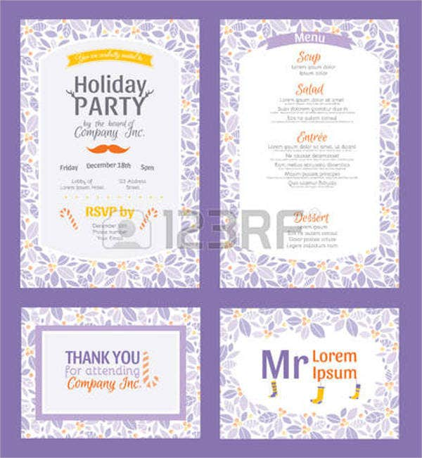free printable holiday party invitation1