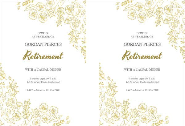 Free Party Invitation – Printable Retirement Party Invitations