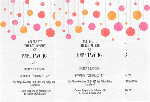 free sample retirement party invitation