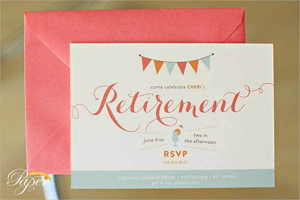 Free party invitation free premium templates for Retirement invitation template free